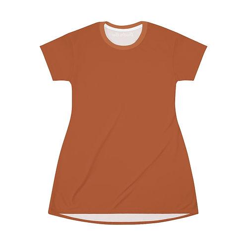 Rust T-Shirt Dress
