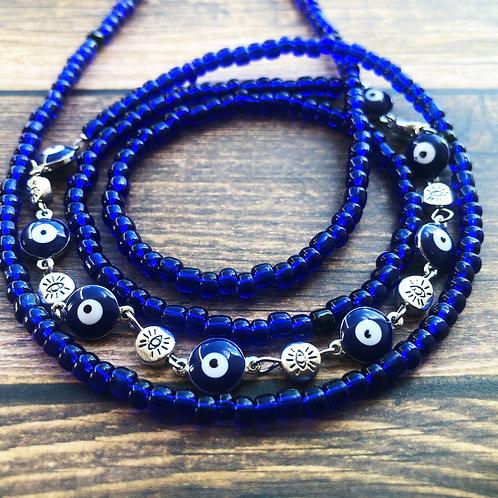 Evil Eye Protection African Waist Bead