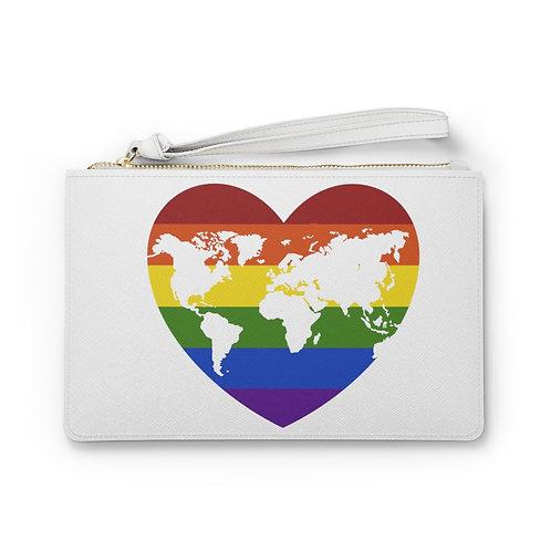 Rainbow World Vegan Leather Clutch Bag