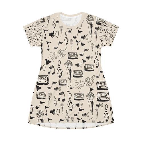 Buttercream Notes T-Shirt Dress