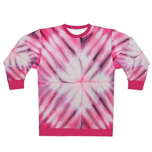 Raspberry Burst Tie Dye Print Sweatshirt