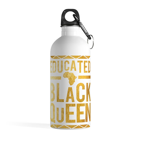 Educated Black Queen Stainless Steel Water Bottle