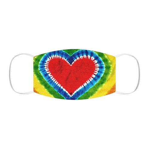 Rainbow Heart Tie Dye Face Mask
