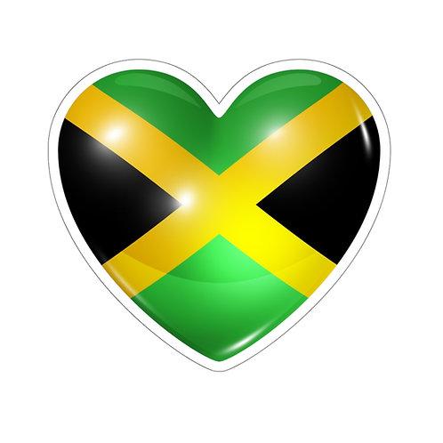 Jamaican Heart Kiss-Cut Sticker