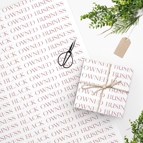 Black Owned Business Rose - Small Lettering Wrapping Paper