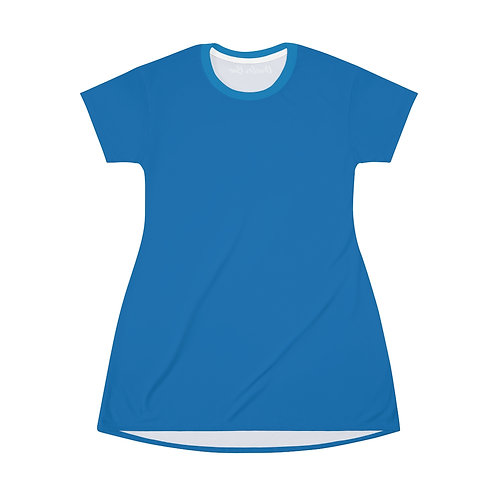 French Blue T-Shirt Dress