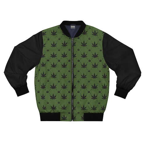 Olive Pro Canna Bomber Jacket