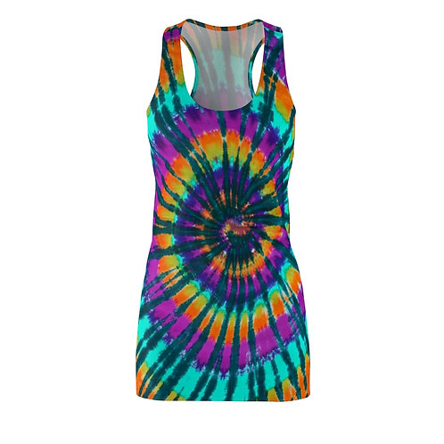 Mixed Color Racerback Tie Dye Dress