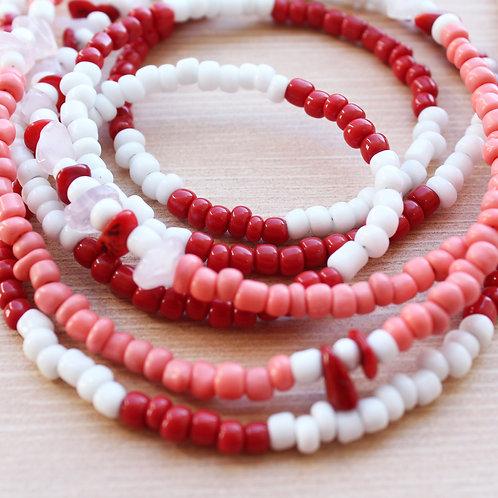 Shango & Red Bambo African Waist Beads (Set of 2)