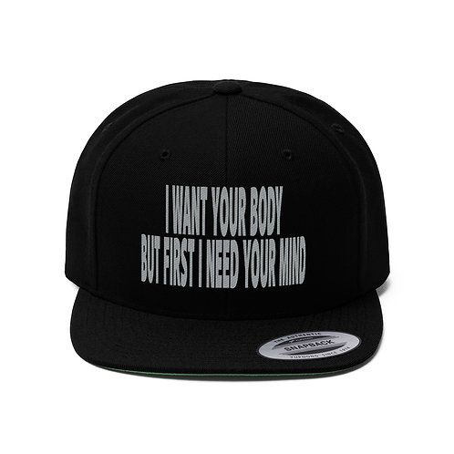 Give Me Your Mind Unisex Flat Bill Hat
