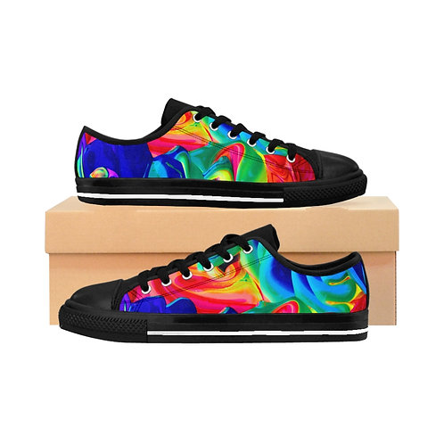 Rainbow Splatter Women's Sneakers