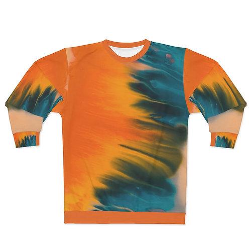 Machungwa Tie Dye Unisex Sweatshirt