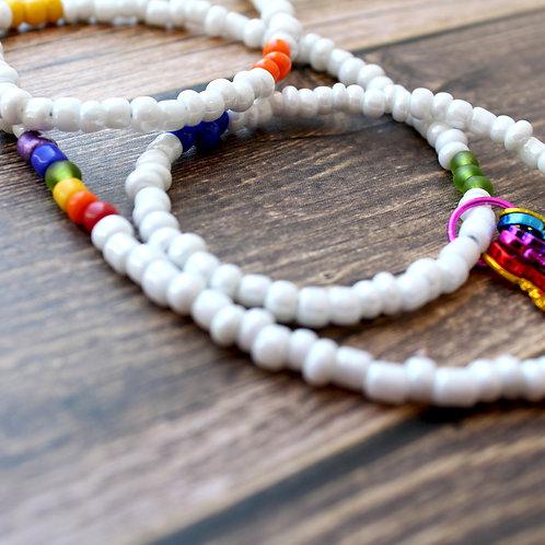 Rainbow African Waist Beads