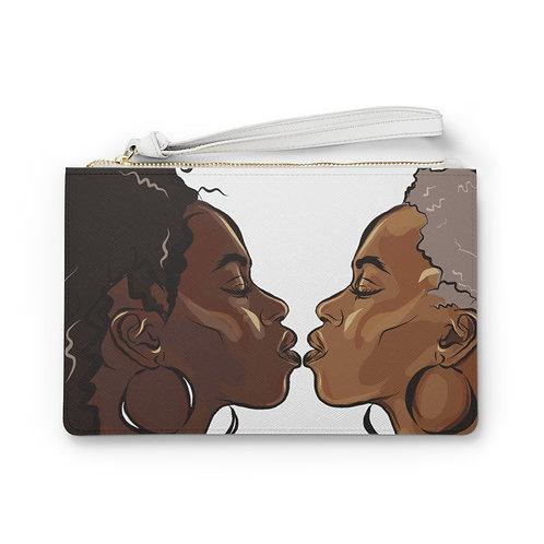 First Kiss Vegan Leather Clutch Bag