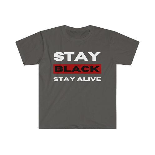 Stay Black Unisex Softstyle T-Shirt