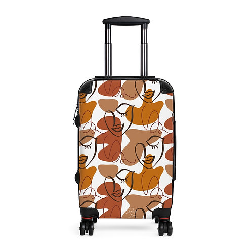 Beautifully Black & Brown Cabin Suitcase