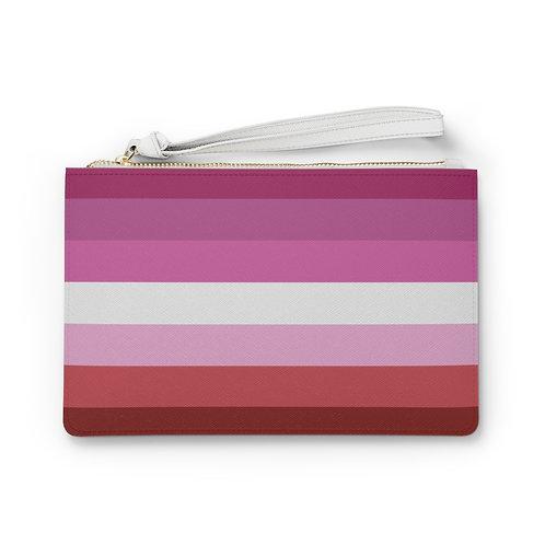 Lesbian Pride Vegan Leather Clutch Bag