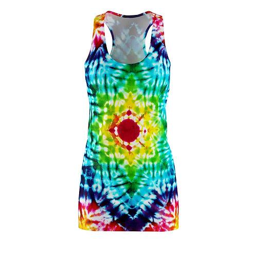 Rainbow Star Racerback Tie Dye Dress