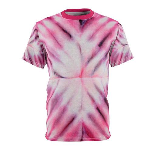 Raspberry Burst Tie Dye Print Unisex Tee