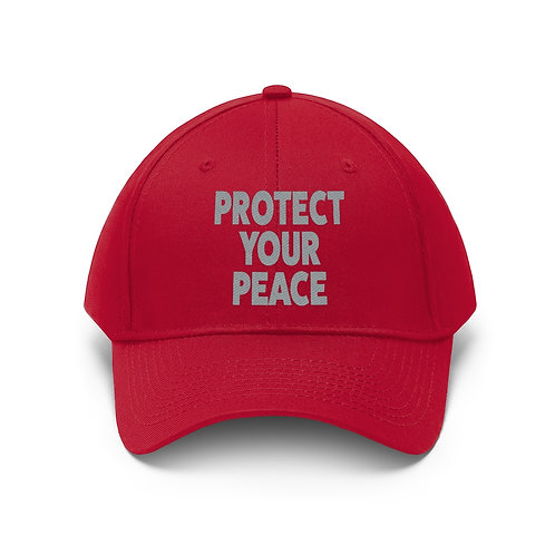 Protect Your Peace Unisex Twill Hat