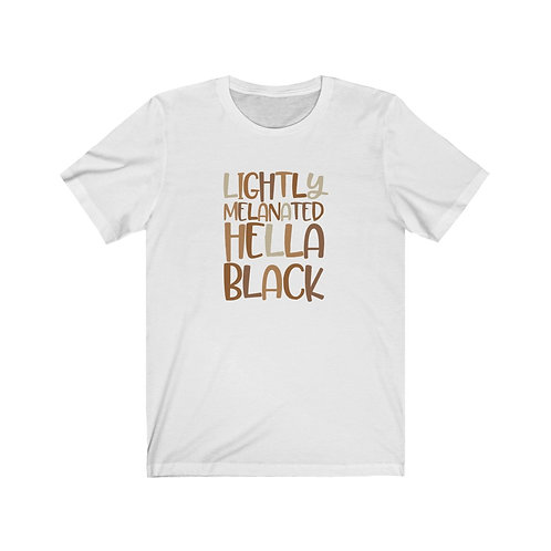 Hella Black Unisex Jersey Short Sleeve Tee