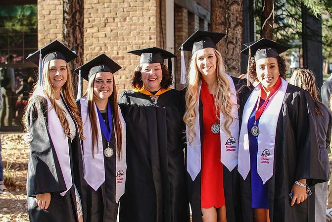 Student athletes graduating at Southern Utah University