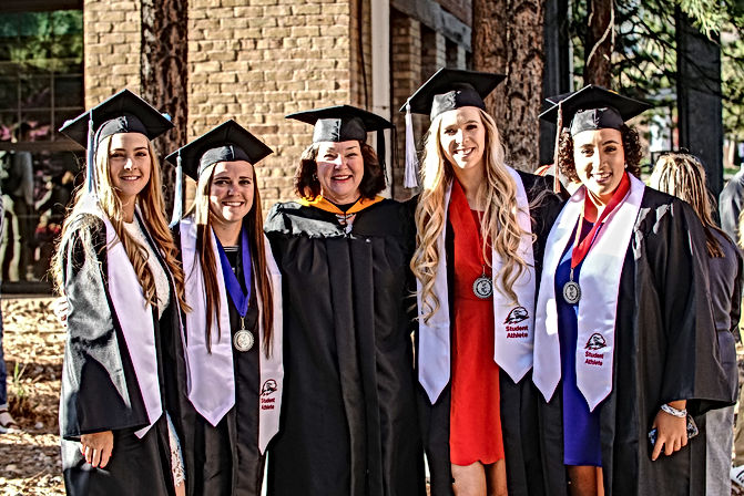 Student athletes graduating at Southern Utah University