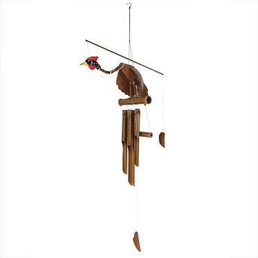 natural bird wind chime