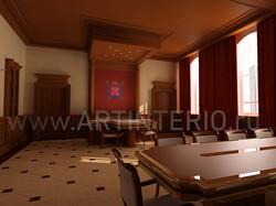 Кабинет в Смольном дворце.