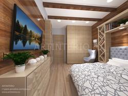 Дизайн спальни в скандинавском стил