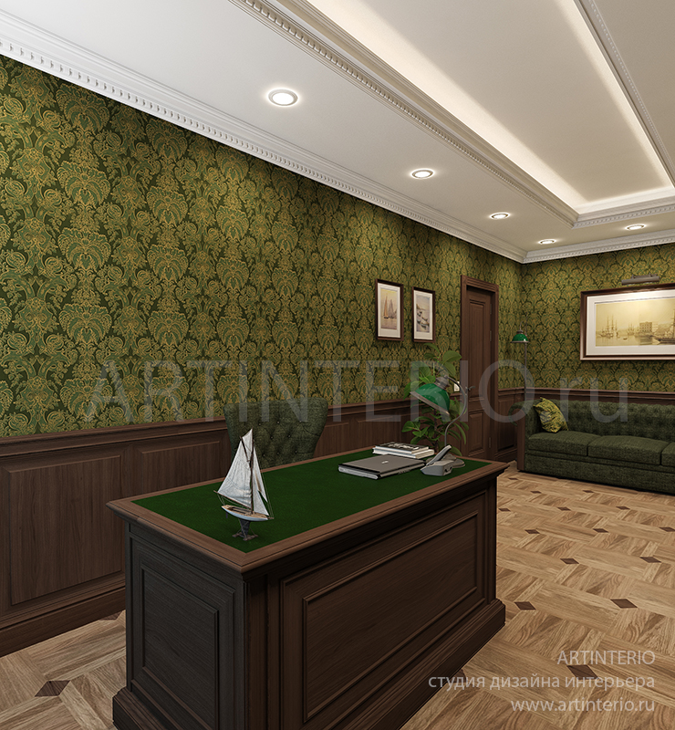 кабинет загородном доме