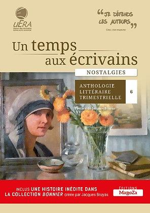 Un temps aux écrivains 6 - Nostalgies (ISBN : 978-2-38019-058-8)