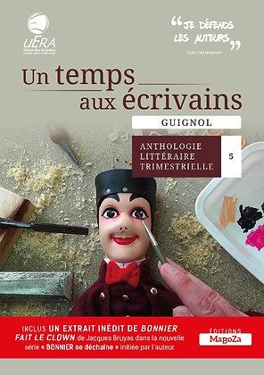 Un temps aux écrivains 5 - Guignol (ISBN : 978-2-38019-057-1)