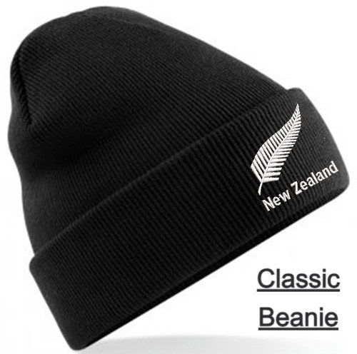 Embroidered New Zealand Beanie Hat