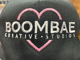 Photo showing BOOMAE embroidery on a baseball cap