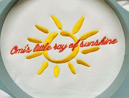 Omi's little ray of sunshine embroidery