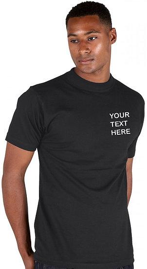 Personalised Black T-Shirt - Ranks