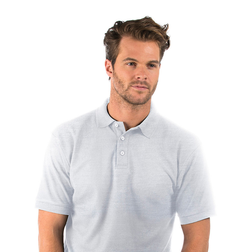 Heather Grey Polo Shirt