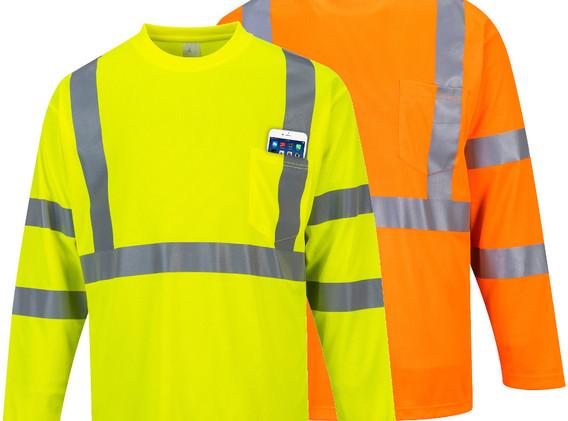 S191 - Hi-Vis Long Sleeve Pocket T-Shirt