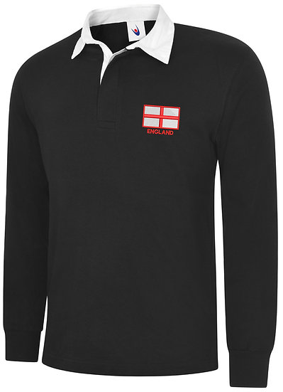 Embroidered St George Flag Rugby Shirt