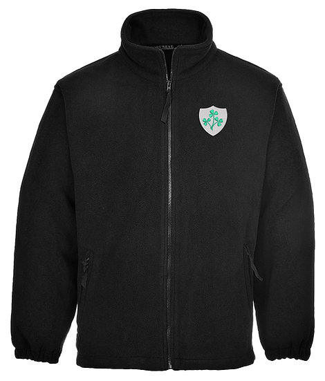 Black Fleece showing Ireland retro design and left chest placement