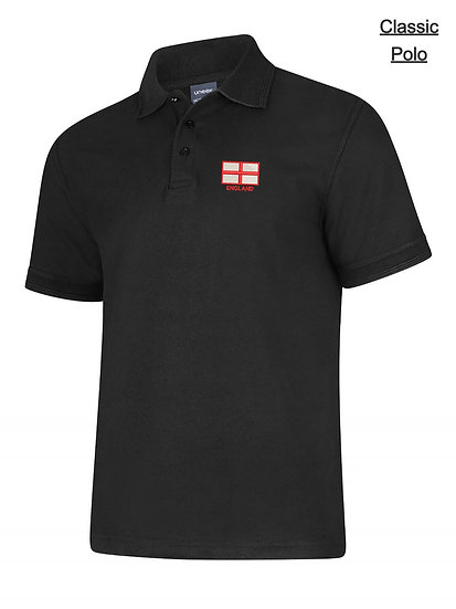 Embroidered St George Flag Polo Shirt