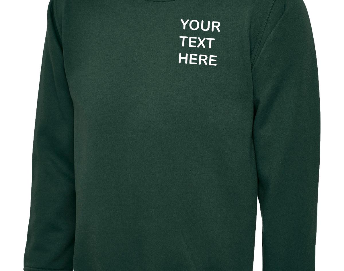 Uneek Bottle Green Sweatshirt