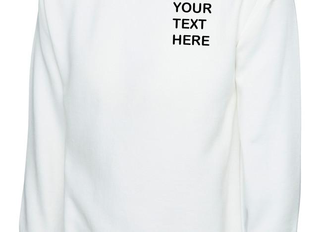 Uneek White Sweatshirt