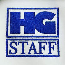 HG Staff embroidery logo in blue