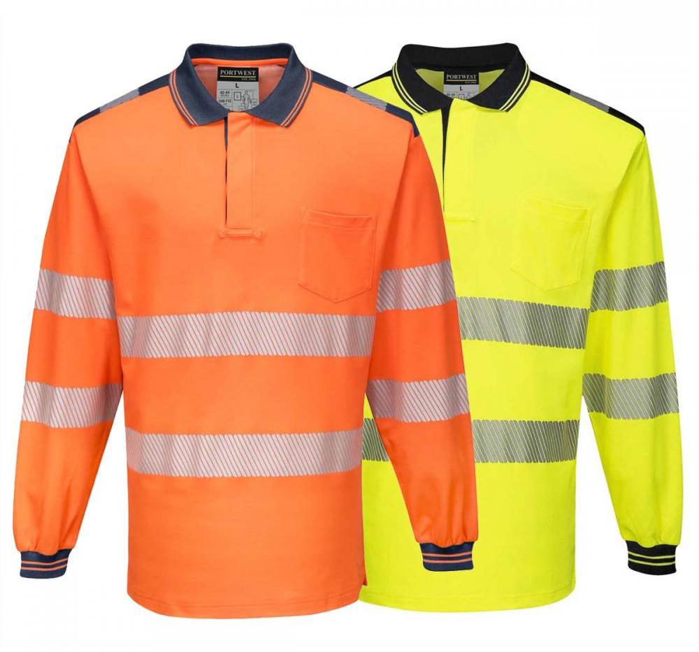 T184 - PW3 Hi-Vis Polo Shirt L/S