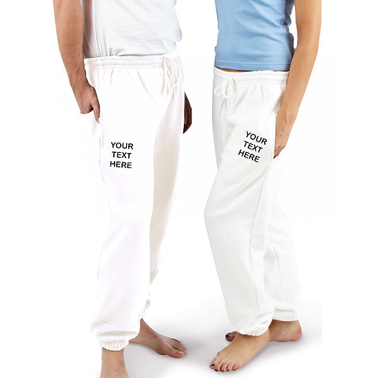 Ash Grey Joggers showing left and right leg placement