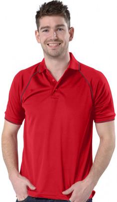 Red/Graphite Grey Polo Shirt