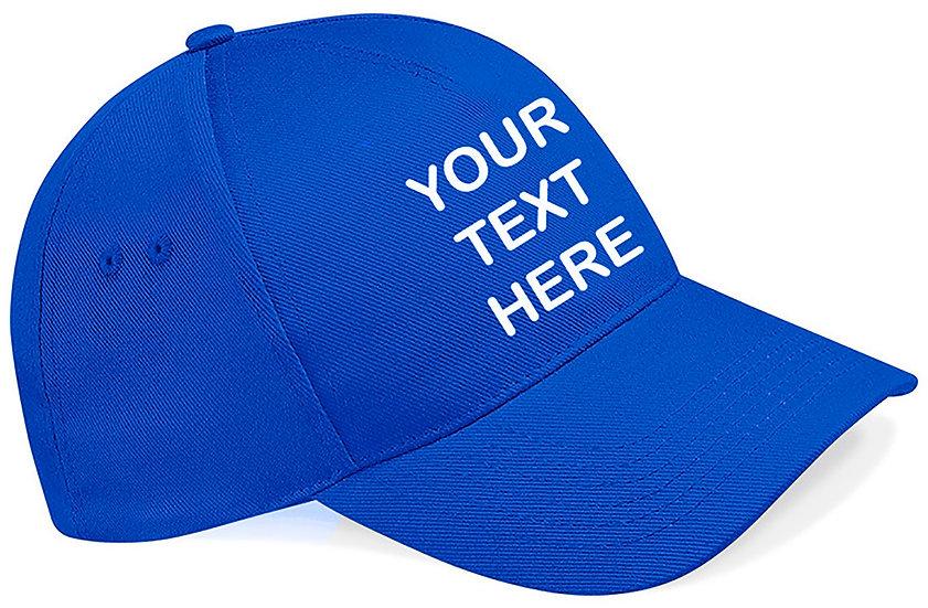 Royal Blue Classic Cap showing front placement