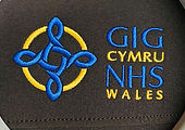 NHS Wales embroidery on a softshell jacket